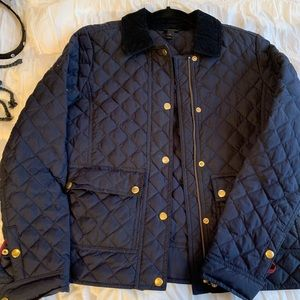 J. Crew navy quilted field jacket